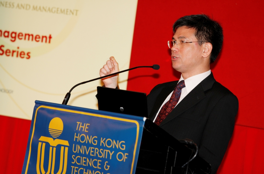 Mr Michael Leung at the speech